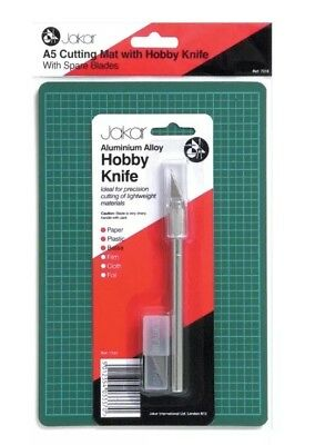 JAKAR A5 Cutting Mat with Hobby Knife and Spare Blades