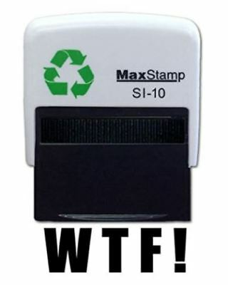 WTF !  Self Inking Stamp - 36 x 13mm - Handy Pocket Stamp