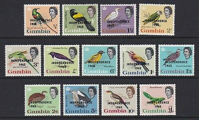 Gambia 1965 full set of 13 - unmounted mint