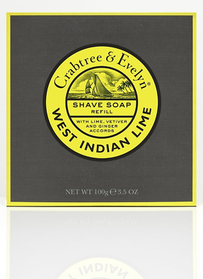 Crabtree & Evelyn Recharge Savon à Raser West Indian Lime 100 g