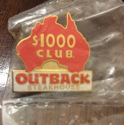 Outback Steakhouse $1000 Club Red Australia New Hat Lapel Pin Employee