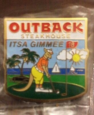 New Outback Steakhouse It's A Gimme 18 Hole Golf Kangaroo Pin
