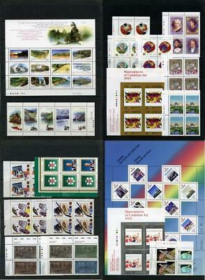 Canada 1992, 1993 Commemorative Imprint Blocks, Sheets etc. MNH