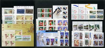 Canada 1991, 1992 Commemorative Imprint Blocks, Sheets etc. MNH