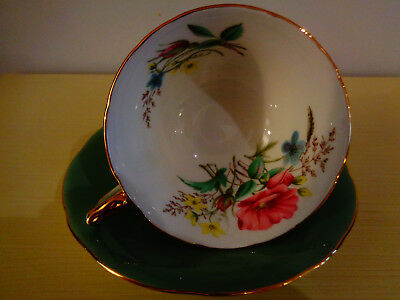 Aynsley Beautiful Mint Green Tea Cup And Saucer