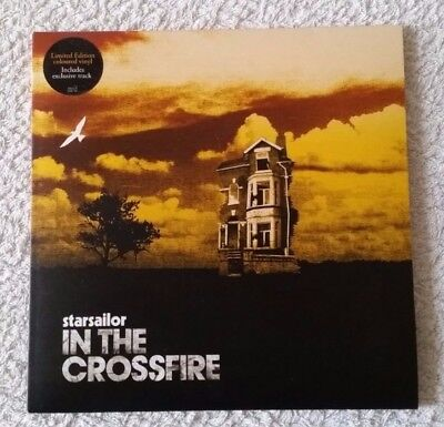 "STARSAILOR - IN THE CROSSFIRE Limited Edition Yellow Vinyl 7"" single (EMI, 2005)"