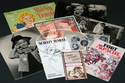 Group of 9 Shirley Temple Collectible Items Various Years 1930s-80s