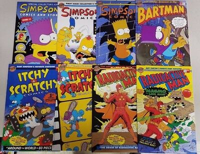 Bongo Comics - Simpsons 8 Issue Comic Lot with Poster