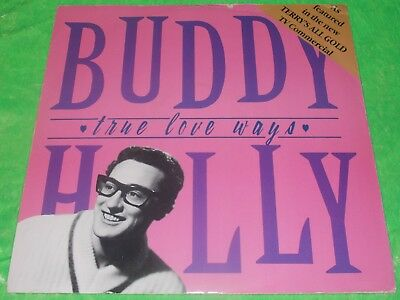 "BUDDY HOLLY : True love ways / Words of love +1 - Original 1988 UK 12"" single EX"