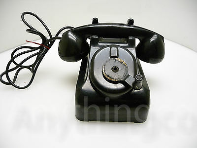 Vintage Leich Model 901 Magneto Hand Cranked Wall and Desk Telephone