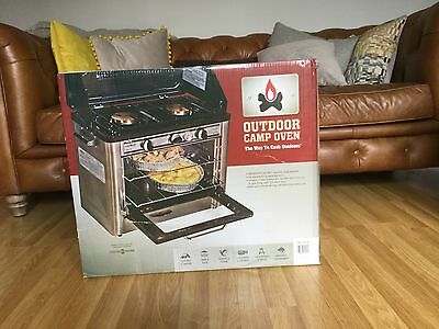 NEW CAMP CHEF Portable Outdoor Camping LPG Gas Oven Hob with 2 Burner Ring