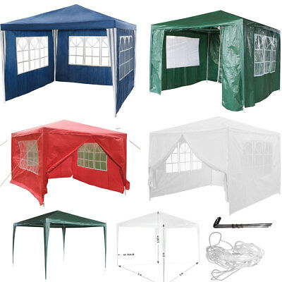 3x3m Waterproof Outdoor Garden Gazebo Marquee Party Tent Shelter Car Canopy
