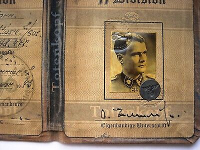 German Death's Head Division Officer's ID Document