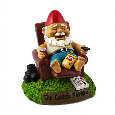 The Couch Potato Garden Gnome - Brand New