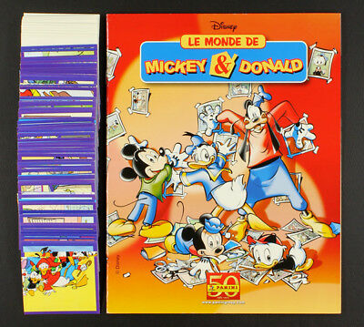 Mickey & Donald Panini Sticker Album komplett ungeklebt / Top