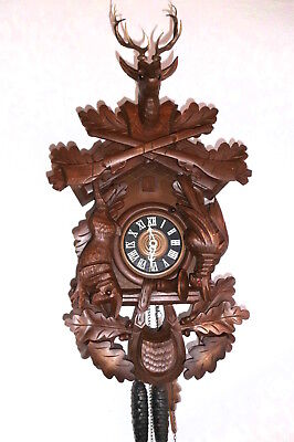 xl vintage orig cuckoo clock,black forest regula wall clock germany