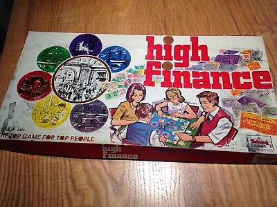 HIGH FINANCE Vintage Board Game (by Tri-ang)