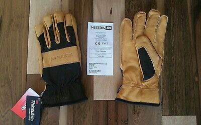 Nwt Hestra Job Winter Czone Pro Leather Waterproof Insulated Gloves L