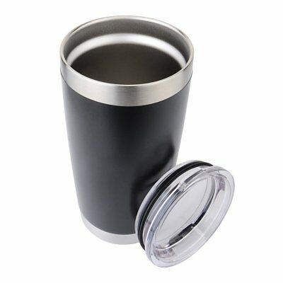 Stainless Steel Double Wall Vacuum Tumbler - Matte Black - 20oz