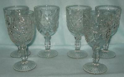 Libbey 6 Hobstar Goblets Mark