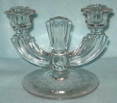 Tiffin Cerice Rose Double Candle Holder