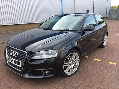 Audi A3 TDI 170 SLine 3dr Black Turbo Diesel New Shape Facelift Model £4495ONO