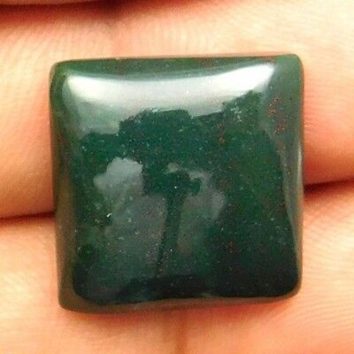 21.35 cts Natural Beautiful Designer Bloodstone Gemstone Cushion Loose Cabochon