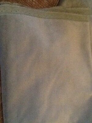 FRENCH UPOLSTERY FABRIC REMNANT GREYISH BLUE Velvet OVER ONE METRE