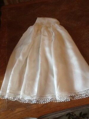 True Vintage Cream Long Under Dress No Sleeves Baby Or Doll