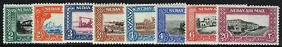 Sg 115-122 Nile Valley 1950 Airmail Set - Unmounted Mint