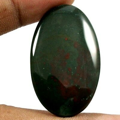 32.70 cts 100% Natural Lovely Designer Bloodstone Gemstone Oval Loose Cabochon