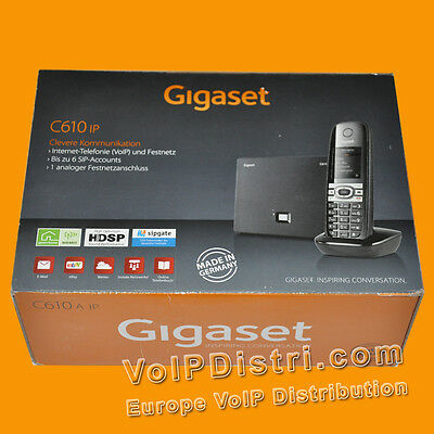 Gigaset C610 IP Cordless VoIP Telephone,6 sip-accounts, Analogue, DECT, HD