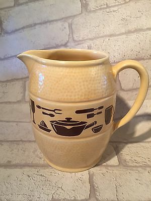 Vintage Sylvac Jug Kitchen Utensils Rare Pattern GORDON BRUN