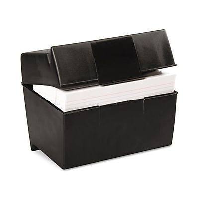 ESS01581 - Oxford Plastic Index Card Flip Top File Box Holds 500 5 x 8 Cards