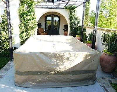 """Patio Set Covers, 132""""Lx104""""W fits Extra Wide Patio Table and Chair Set"""