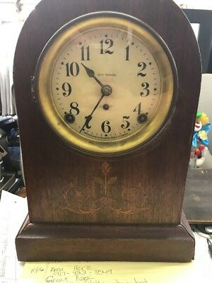 Antique Send Thomas Mantle Clock Gorgeous Need Some Repair