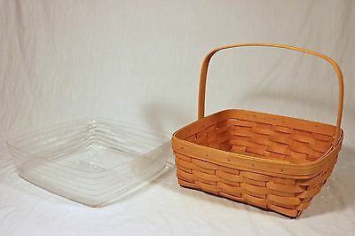 Longaberger 2002 Pie Basket w/ Protector in Classic Stain - RARE