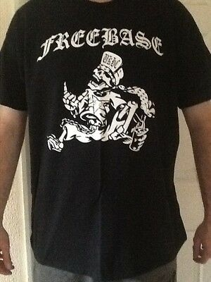 Freebase T shirt Death Metal Hardcore Dripback Muncipal Waste USED..!!