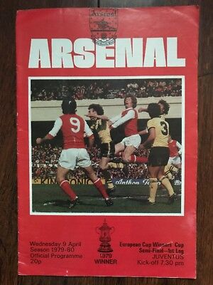 Arsenal V Juventus Football Programme. Arsenal Football Program 1980