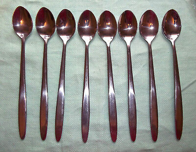 Set of Eight Kurman KUR2 Stainless Steel Iced Tea Spoons