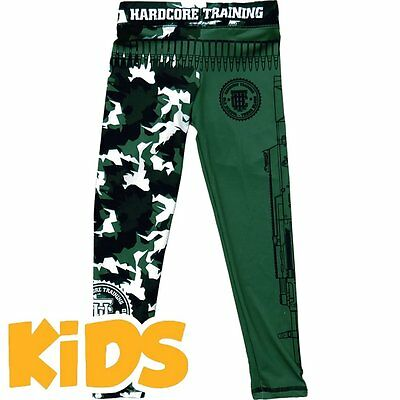 Kids Compression Pants Hardcore Training Arctic Camo Niño Spats Pantalones MMA F
