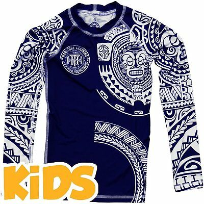 Kids Rashguard Hardcore Training Ta Moko Niño Compresión superior MMA Fitness