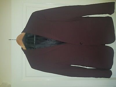 Men's Maroon Suit Jacket with Matching Trousers