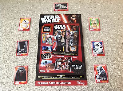 12p Each Topps Star Wars - The Force Awakens Trading Cards, Choose From List