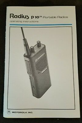 Motorola Radius p110 Portable Radios Operating Instructions Manual