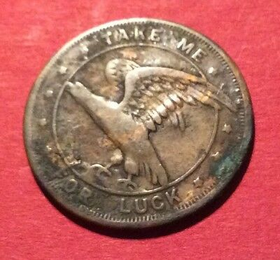 Vintage Eagle Good Luck Token