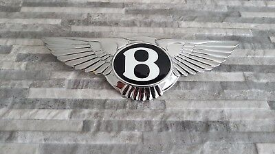 """ Bentley ""  Large Chrome - Metal  Bonnet / Boot Badge  ( Excellent Condition )"