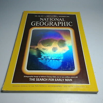 National Geographic Magazine November 1985 The Search For Early Man With The Map