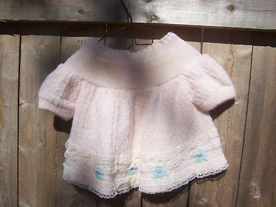 Vintage Baby Pink Sweater Renzos Imports Made in Italy
