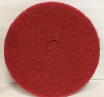 "Niagara Red Floor Buffing Pads * 5100N * 17""  Diameter * 5 Pads per box"